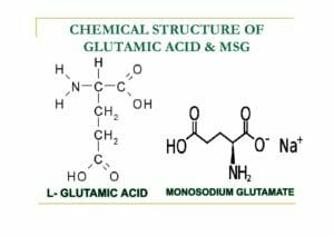 ผงชูรส โมเลกุลเคมี ลักษณะทางเคมี ของ ผงชูรส